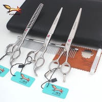 KUMIHO Pet Grooming Scissors 7inch And 8 Inch Dog Scissors Cutting And Thinning And Curved Scissors