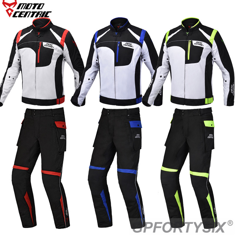 Motorcycle Jacket Pants Motorbike Riding Jackets Windproof Full Body Armor Protective Gear Winter Moto Clothing with rain cover