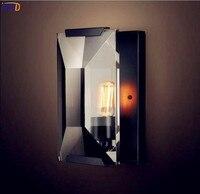 IWHD Лофт эсветодио дный Дисон Кристалл светодиодный настенный светильник спальня дома освещение Американский промышленный Винтаж бра Cristal