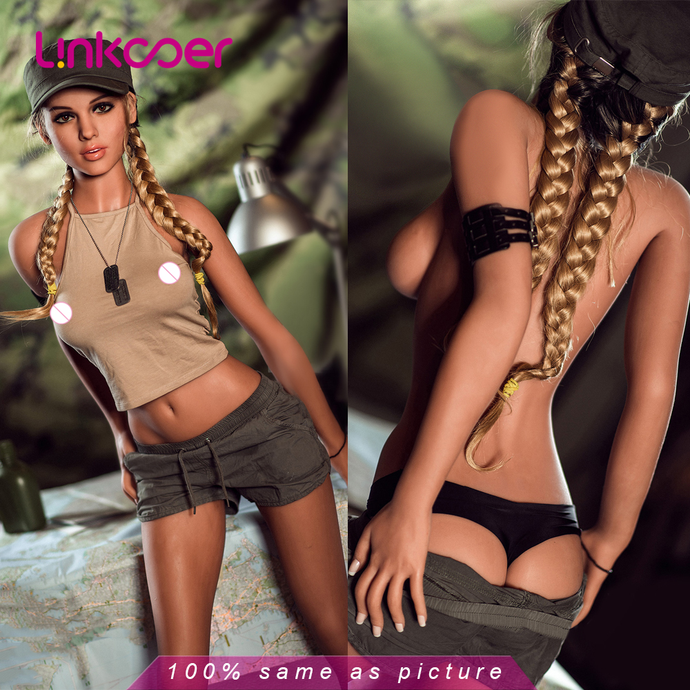 Linkooer 166cm Real Silicone <font><b>Sex</b></font> <font><b>Doll</b></font> Realistic Sailor Moon 3 Holes <font><b>Adult</b></font> Love <font><b>Doll</b></font> Small Breast Sexy Ass <font><b>Sex</b></font> <font><b>Toys</b></font> for Men image