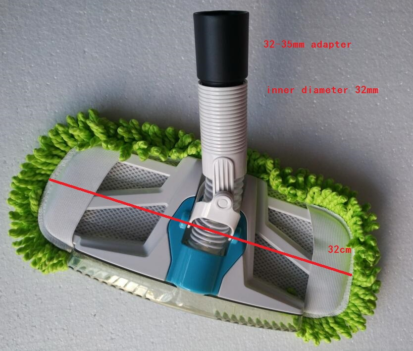 Vacuum Cleaner Parts wood floor brush mop 32mm 35mm cleaner brush cotton mop brush with 32mm
