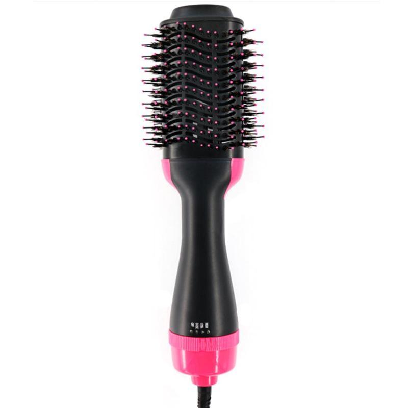 1000 W multi-usage cheveux bigoudi sèche-cheveux peigne de Massage lisseur cheveux rouleau en céramique 3 vitesses 360 degrés pratique cheveux outils