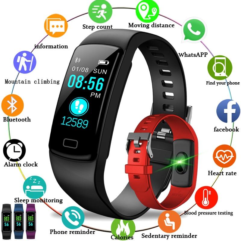 BANGWEI 2019 New Women Smart wristband Blood pressure watch heart rate activity tracker Smart watch Mens