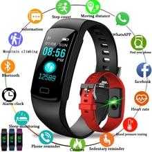 LIGE 2019 New Women Smart wristband Blood pressure watch heart rate activity tracker Bracelet Mens Sport waterproof Clock