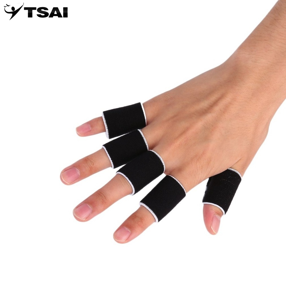 10PCS Stretchy Finger Sleeve Support Wrap Arthritis Guard Volleyball Sports New Arrival