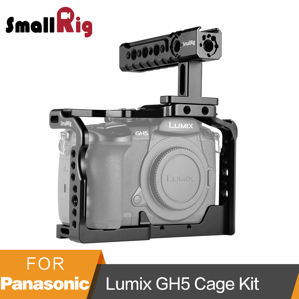 SmallRig For Panasonic Lumix GH5/<font><b>GH5S</b></font> Cage with Top Handle Handgrip Kit - 2050 image