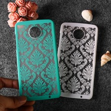 Retro Hollow Flower Case For Moto G5S G5 C Plus G3 G2 Coque Covers for Z2 X2 X Play E4 E2 Bumper Funda Capa
