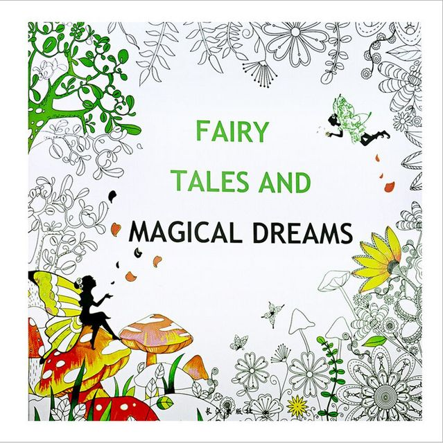 24 Pages Fairy Tale Magical Dreams Coloring Book For Children Adult Relieve Stress Kill Time Graffiti Painting Drawing Art Book