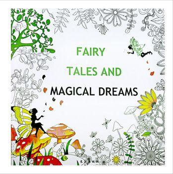 24 páginas cuento de hadas sueños mágicos libro para colorear para ...