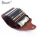 Unisex Real Genine Leather Women Short Small Female Wallet Cowhide Mini Men Male Purse Business Credit Card Holder Id Card Case