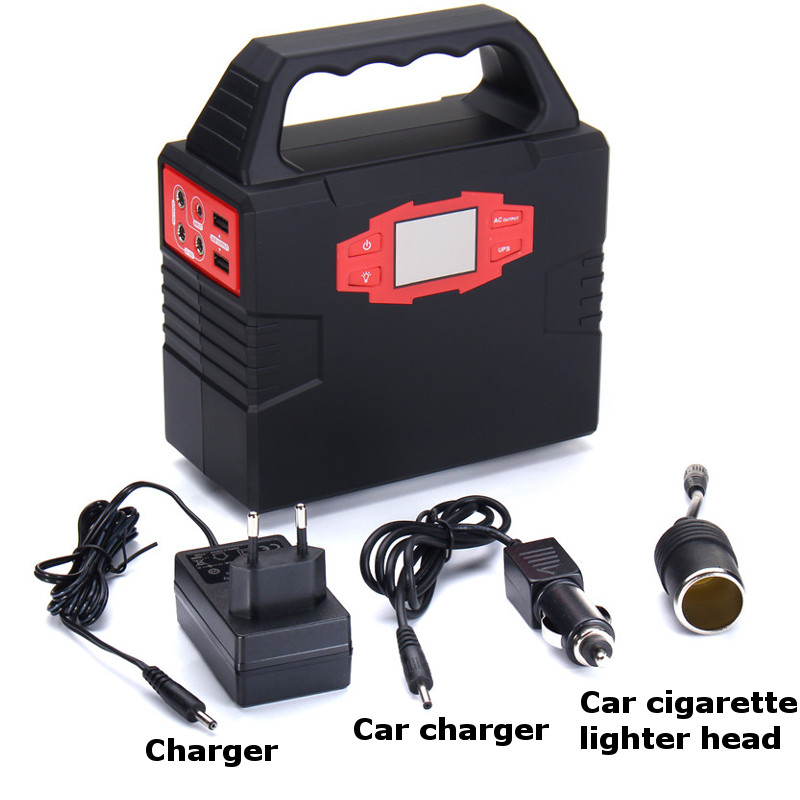Portable Solar Generator 150Wh 100W Power Supply Energy Storage Home Outdoor Power Generation WIth Adapter Cigarette Lighter