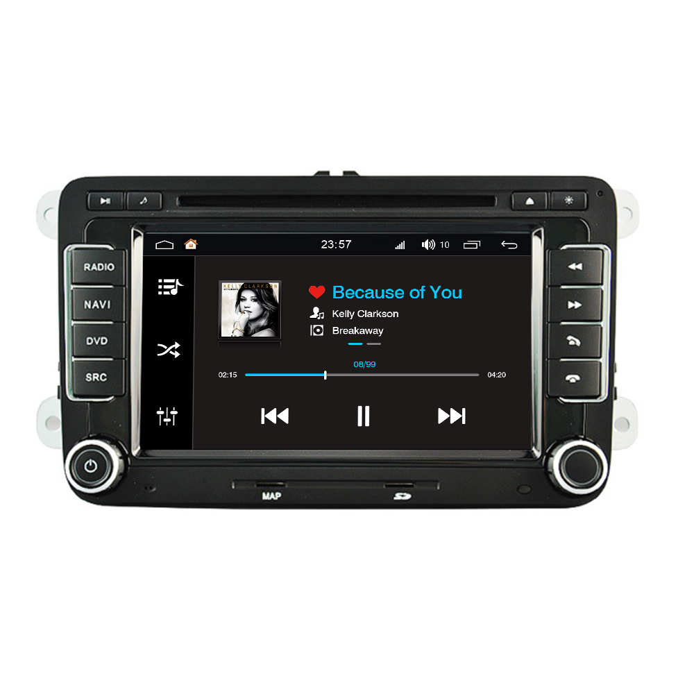 Android 8.0 pour VW Golf 5 6 Polo berline Passat Tiguan Touran Caddy Cupra transporteur voiture multimédia Radio DVD GPS Navigation