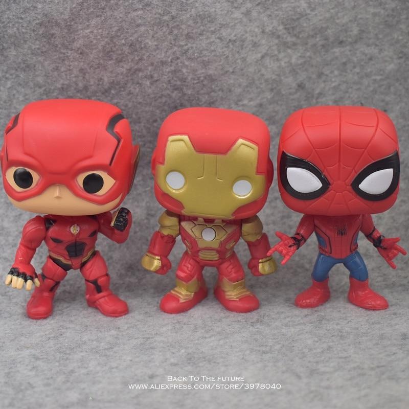 League & Marvel Avengers 9pcs/set 10cm Iron Man Thor Hulk Action Figure Anime Mini Decoration PVC Collection Figurine Toy Model