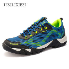 2017 New Summer Breathable Men Anti Slip Outdoor Sports Shoes Male Air Mesh Hiking Shoes Trekking Shoes Mountain Boots Sneakers недорого