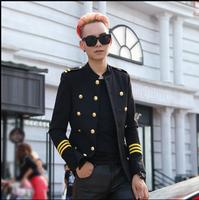 M 3XL New Men Slim Korean version solid color triple beasted casual suit jacket youth small Blazers coat singer stage costumes