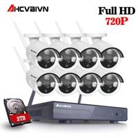 8CH 1080P NVR WIFI Surveillance Kit Plug And Play 720P HD 1 0MP Wireless Waterproof Night