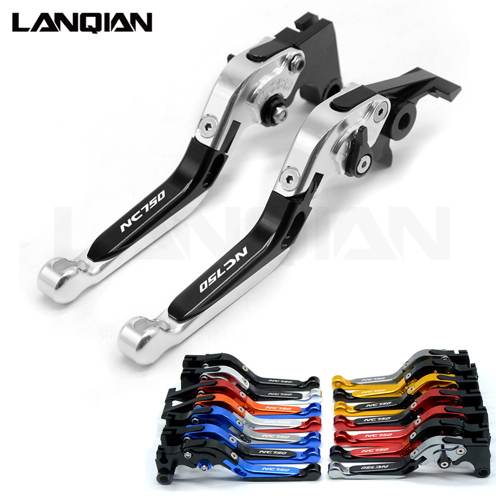 14 Color For Honda NC750 S/X 2014 2015 CNC Motorcycle Accessories Adjustable Folding Brake Clutch Levers NC750S/NC750X With Logo cnc motorcycle brake levers adjustable folding extensible clutch for honda nc750s 750x vfr 1200 f cbr929rr 900rr 600rr hornet