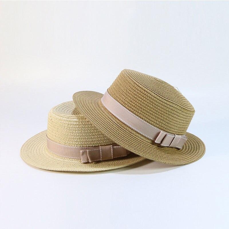 XCZJ Summer Beach Hat Women Panama Straw Caps Wide Brim Visors Casual Hats Lady Brand Hand Made Women Sun Hats Flat Gorras H109 in Women 39 s Sun Hats from Apparel Accessories