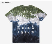 Aolamegs T Shirt Men I Feel Like Pablo Kanye West Clothing Fashion Streetwear Gradient Color Short