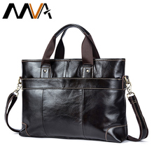 MVA Genuine Leather Men Bags Fashion Messenger Bag Man Leather Laptop Bag Men Briefcase Men's Travel Shoulder Bag Casual Handbag