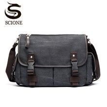 Bolso de hombro Vintage para hombre, bandoleras de viaje, bolsa de mensajero de lona, Patchwork, multifunción, para portátil, bolso escolar