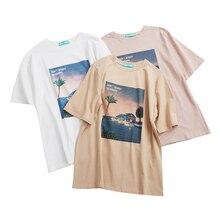 2019 Korean Harajuku Vintage Printed Short Sleeve T Shirt