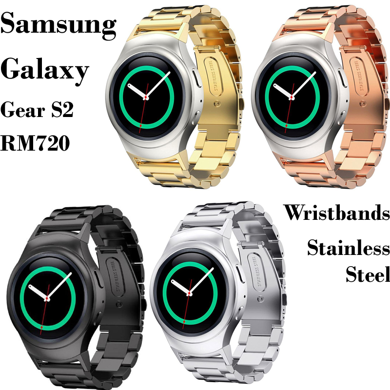 Prix pour 4 Couleur Galaxy Gear S2 RM720 Acier Inoxydable Bracelets Bracelet pour Samsung Galaxy Gear S2 RM720 Sport Montre En Métal Bandes bretelles