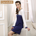 Qianxiu Nightgown For Girl Knitted Modal Fabric Nightgown Ladies Sleepshirts Sexy Lace Nightwear