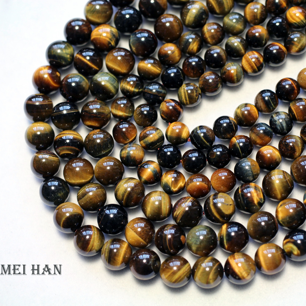 """Pink Tiger's Eye Gemstone Round Beads For Jewelry Making 15/"""" 6mm 10mm 12mm Pick"""
