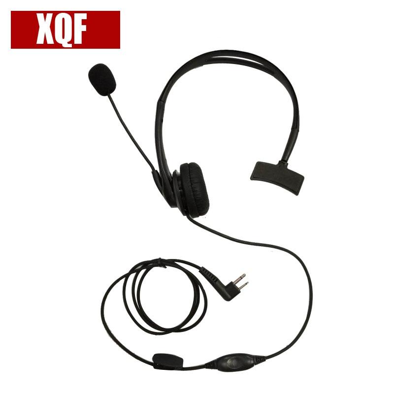 XQF Over-the-Head Earpiece Headset [Swivel Boom Microphone][Noise Cancelling] For Motorola Radio GP88 GP2000 GP300 Walkie Talkie