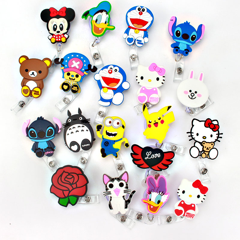 2018 New Cartoon ID Badge Reel Design Nurse Candy Color Design Bank Credit K185