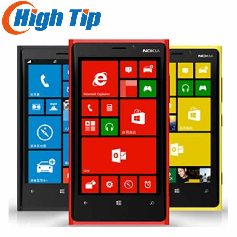 "Nokia Lumia 920 Original Entsperrt Windows Handy Dual core 32 GB 8.7MP 3G GPS WIFI 4,5 ""Touchscreen renoviert"