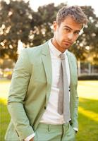 Mint Green Men Suits Blazer With Pants Custom Made 2 Pieces Busineess Men Office Wear Casual Party Tuxedos For Men