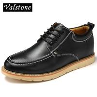Valstone Men Quality Microfiber Leather Shoes Warm Winter Autumn Casual Sneakers Hidden Elevator Shoes Winter Velvet
