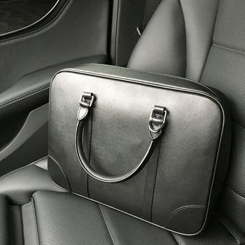 Men's Handbag Cowhide Briefcase Large Capacity Laptop Crossbody Bag Simple Genuine Leather Business Bag.