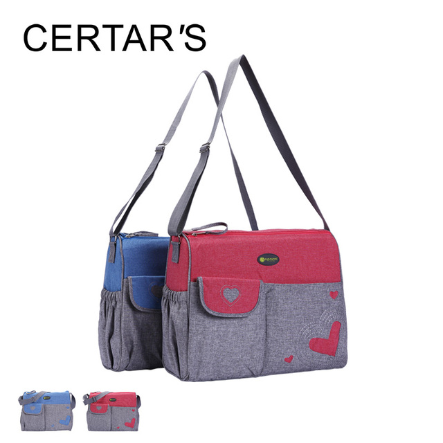 CERTAR'S Baby Nappy Bags Diaper Bag Mother Shoulder Bag Maternity Mummy Handbag Waterproof Baby Stroller Large  Messenger Bags