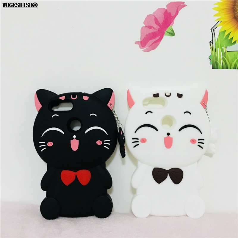 3D Kitty Cat Case for Huawei Mate S 7 8 9 10 Pro Nova 2 2S 2I Lite P8 P9 P10 Lite Plus 2016 2017 P Smart Soft Silicone Cover