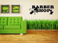 Barber Shop Sign Business Logo Art Work Sticker Decal Wall Art
