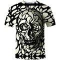 2016 Новый Arrivval Мужчины Лето Марка Одежда Череп Печати 3D Майка MenT футболка Camiseta Dark Souls Каратель Мужчины футболки