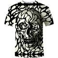 2016 Homens Roupas de Verão Da Marca Nova Arrivval Cópia Do Crânio 3D Camiseta Mento-shirt Camiseta Almas Das Trevas Homens Punisher camisetas