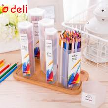 купить Deli Sketching Colored Pencil School Drawing Painting Pencil Set Stationery Oil Color Pencil 12/18/24/36/48Pcs/lot Art Supplies по цене 469.23 рублей