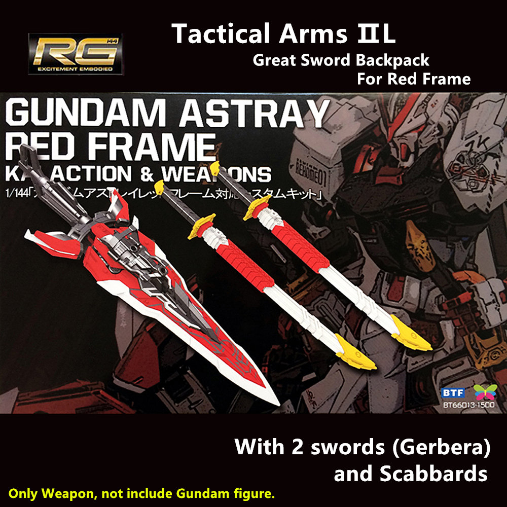 BTF Great Sword Tactical Arms pack for Bandai 1 144 RG Gundam Astray Red Frame
