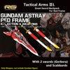 BTF Groot Zwaard Tactische Armen pack voor Bandai 1/144 RG Gundam Astray Rood Frame