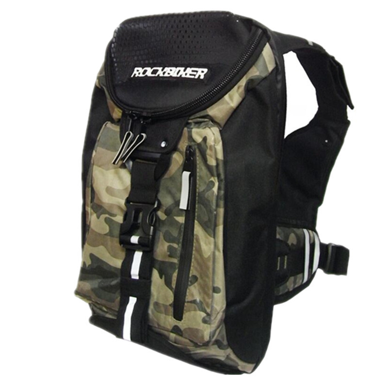 4 colors Breathable Motorcycle Backpack Waterproof Nylon Motorbike Bag Reflective Safety Backpack Helmet Bag Riding Shoulder