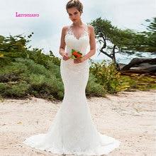 LEIYINXIANG Bride Dress Wedding Dress Backless V-Neck