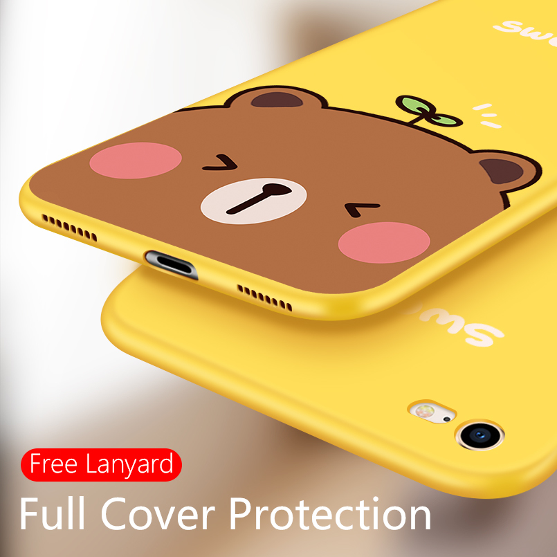 ASINA 3D Relief Case For iPhone 7 Case Cute Original Cartoon Cover For iPhone 7 8 Plus 10 X XR XS Max Silicone Bumper Fundas in Fitted Cases from Cellphones Telecommunications