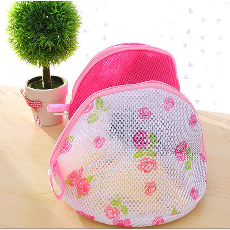 2018 Sale Convenient Women Bra Laundry Bag Triangel Cylinder Clothes Washing Net Bag Hosiery Saver Protect Aid Mesh Bag F2625