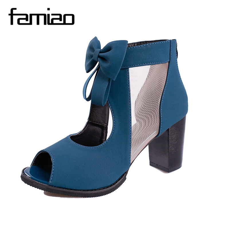 FAMIAO Women Sandals 2018 Summer New peep Toe Fish Head Fashion platform High Heels Wedge Sandals women summer female shoes women shoes sandals 2018 new arrivals bowtie fashion summer women fish head sandals