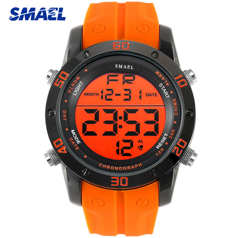 SMAEL Fashion Sports Mens Watches 2020 New Watch Men LED Electronic Watch Digital Clock Man Date Waterproof Military Wristwatche|Digital Watches| |  - title=