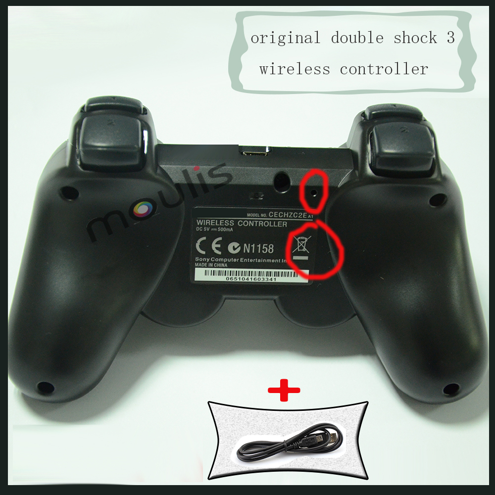 For ps3 original wireless controller sixaxis joystick for